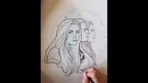 Inking Five Years art